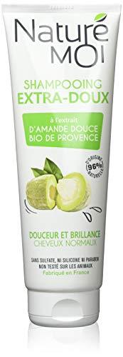 Naturé Moi – Shampooing extra-doux à l'extrait d'amande douce de Provence bio – Rend les cheveux doux et brillants – 250ml