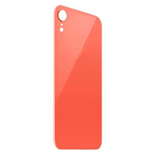 Almencla Replacement Back Glass Cover Back Battery Door,Best Version for Apple iPhone XR Models - Orange