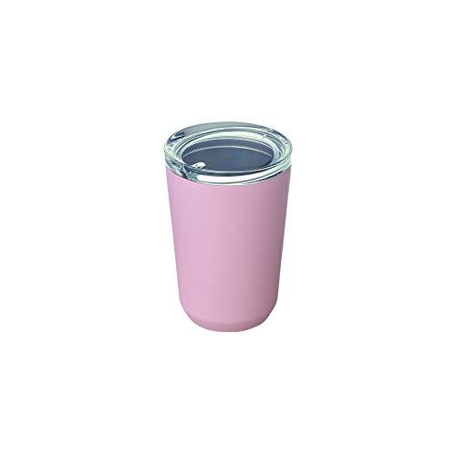 Kinto – To Go Trinkflasche, 360 ml, Reise-Wasserflasche, Vakuum-Isolierflasche, Thermo-Sport, edelstahl, rose, 360ml