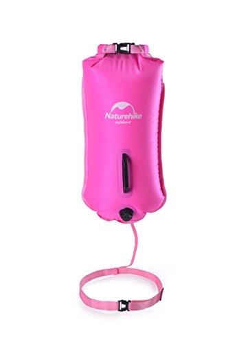 Bolsa hinchable de flotación para natación o como boya salvavidas de Naturehike para la piscina o el mar, bolsa impermeable, rosa