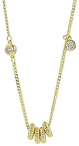 BEISUOSIBYW Co.,Ltd Collar de Cuentas de Arcilla Femenina con Cuatro Anillos Regalo