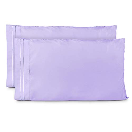 Cosy House Collection Pillowcases Standard Size - Lavender Pillow Case Set of 2 - Fits Queen Size Pillows - Premium Super Soft Hotel Quality - Cool & Wrinkle Free - Hypoallergenic