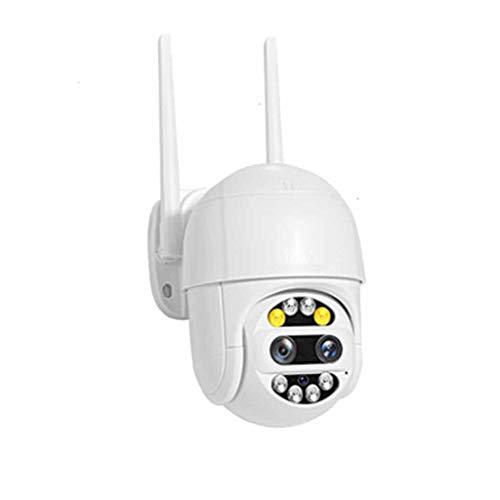 QPALZM 5MP Cámara Vigilancia WiFi Exterior,Visión Nocturna 50M,Detección Movimiento,Cámara Vigilancia Exterior 4 X Zoom,Audio Bidirecciona,Audio Dos Canales,detección Seguimiento automático