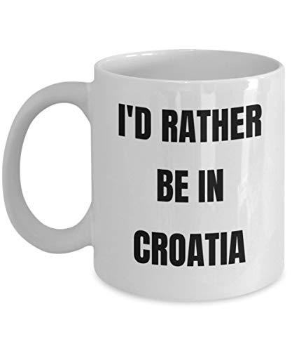 Croatia Tasse - I'd Rather be in Kroatia Coffee Cup - Croatia Gag Gifts Idea - Croatia Gift Basketball for Men or Women