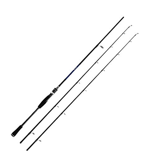DDoyci Fundición de Spinning caña de Pescar 1,8 m 2,1 m 2,4 m Potencia M MH Carbono Rod Poste 2 Sección de Fibra Baitcasting (Color : Spinning Type, Length : 2.1m)