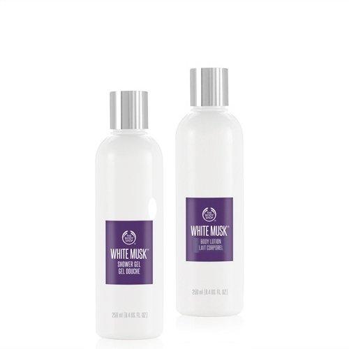 La Body Shop Almizcle Blanco Gel De 250Ml + la Body Shop Almizcle Loción Corporal 250ml/THE Body Shop White Musk Gel de Ducha 250ml + The Body Shop White Musk bodylotion 250ml