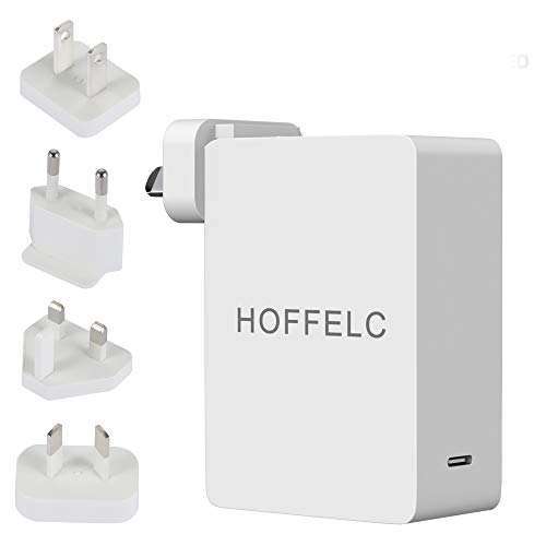 Universal USB C Charger, HOFFELC PD 65W Fast Charger with US/UK/EU/AU Plugs for Travel and Dynamic Detect Wall Charger for MacBook Pro, USB C Laptops,iPad Pro,iPhone, Galaxy, Pixel ,and More