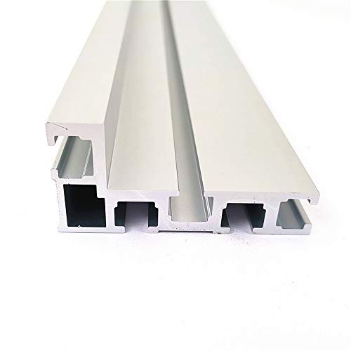 T-Nut T-Schienen Schiene Aluminium Holzbearbeitung Backer Saw für die Holzbearbeitung DIY Werkbank für Zaun 75mm Höhe-600MM