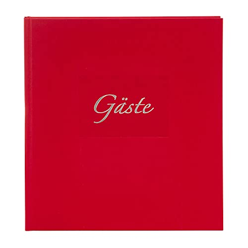 goldbuch 48047 Gästebuch mit Lesezeichen Seda, 23 x 25 cm, Hochzeitsgästebuch mit 176 weiße...
