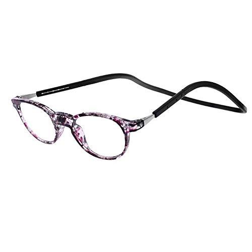 ZZAI Gafas de Lectura Imán Colgando Cuello de Silicona Silicona Soft Band/Plegable Revestimiento portátil Lectura de Lectura para Hombres y Mujeres Nuevo - Diopter + 1.0 + 1.5 + 2.0 + 2.5 + 3.0 + 3.