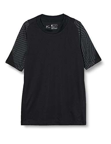 Nike Boys Breathe Strke T Shirt Jungen BlackBlackAnthraciteBlack XS