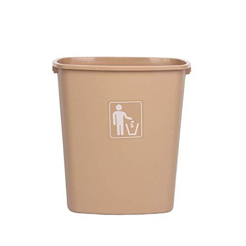 LIN-rlp Gruesa de plástico Bote de Basura, Oficina Creativa de Basura Estudio Antideslizante multifunción Comercial Bote de Basura de Capacidad, 30L / 40L / 65L (Color : Brown, Size : 65L)