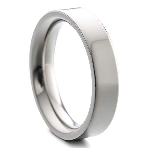 Heideman Ring Women and Men Pair Stainless Steel Silver Color Polished or matt Women Ring for Women and Men Partner Rings Silver Color Polished Gr.61 hr7003-3-61