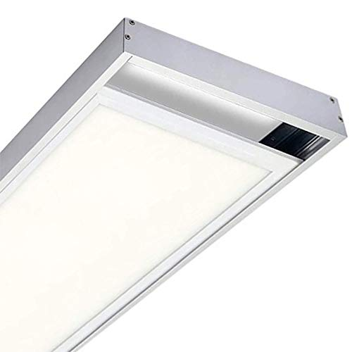 Soporte de Superficie para convertir Panel slim 120x30cm. Aluminio lacado blanco. Kit para Techos. Convertir panel led empotrar en superficie facilmente.