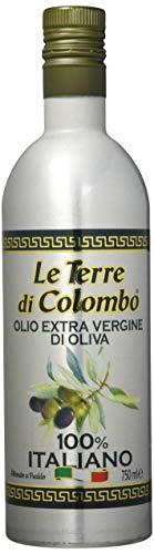 Le Terre di Colombo – 100 % Italienisches Natives Olivenöl Extra, Aluminium-Flasche, 0,75 l