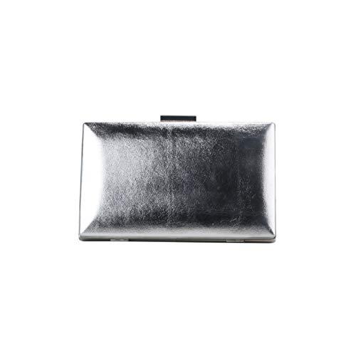 Buffalo Elegante Clutch für Damen NATALI Frauen Handtasche,Schnappverschluss,20x3x12cm,Silver(Silber)