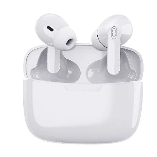 Sanfiyya Bluetooth Earbud drahtloser Kopfhörer-Kopfhörer Y113 TWS Weiß Touch Control Stereo-Annullierung Lärm Ladetasche Bluetooth Headset Geschenk