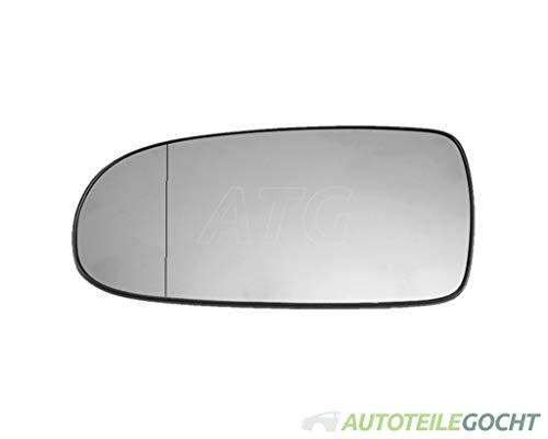 Set Spiegelglas verchromt Konvex Heizbar für OPEL CORSA C X01 00-10 von Autoteile Gocht
