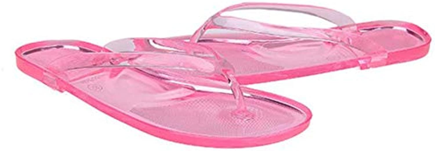 Btrada Womens Flip Flops Slippers Candy color Clear Transparent Sandals Classic Casual Beach shoes