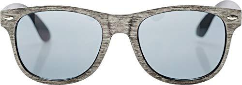 noTrash2003 Sonnenbrille für Damen und Herren, melierter Kunststoffbügel, Retro Design, Sunray Brille in vielen Farben (Hellgrau)
