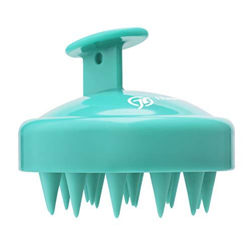FReatech Shampoo Haarbürste für Peeling und Kopfmassage, [Nass & Trocken] Kopfhaut Massagebürste, Silikonkamm Pflege Haarwurzel, Healthy Head ohne Schuppen, Stimuliert das Haarwachstum, Grün