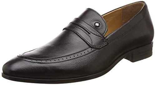 Louis Philippe Men's Black Leather Formal Shoes