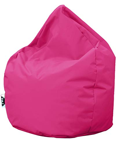 PH Patchhome Sitzsack Tropfenform - Pink für In & Outdoor XL 300 Liter - mit Styropor Füllung in 25 versch. Farben und 3 Größen