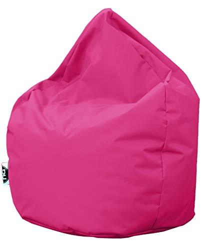 Patchhome Sitzsack Tropfenform - Pink für In & Outdoor XL 300 Liter - mit Styropor Füllung in 25 versch. Farben und 3 Größen