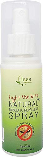 Glamorous Hub Lass Naturals Fight The Bite Spray repelente de mosquitos natural 100 ml sin parabenos ni sulfatos (el embalaje puede variar)