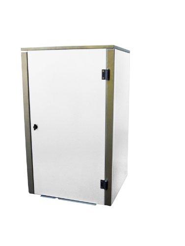 Mülltonnenbox Edelstahl, Modell Eleganza G, 240 Liter, in Weiß RAL 9016 (Pulverbeschichtet)