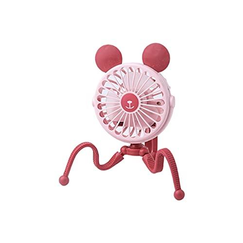 RongWang Mini Cochecito con Clip de Ventilador Octopus con luz, Enfriador de Aire portátil, pequeña Herramienta de enfriamiento Personal, 3 velocidades, rotación 360 (Color : C)