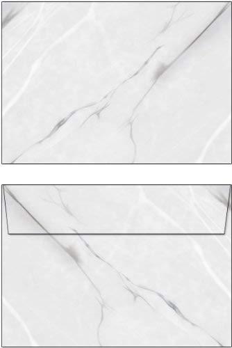Briefumschläge Marmor schwarz/weiß/grau 50 Stück Format C6 ohne Fenster 6492-C6
