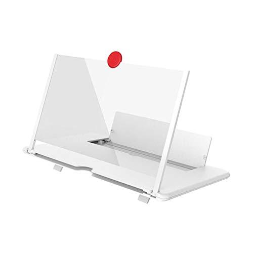 rongweiwang Ausziehbare Telefon Screen Amplifier Folding Mobile Magnifier 3D Telefondisplay Vergrößern Stand 12in & White