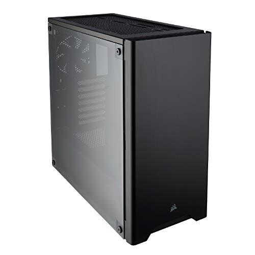 Corsair Carbide Series 275R Gaming-PC-Gehäuse (ATX Mid-Tower, Seitliches Sichtfenster, klaren Innenlayout und vielseitigen kühloptionen) schwarz