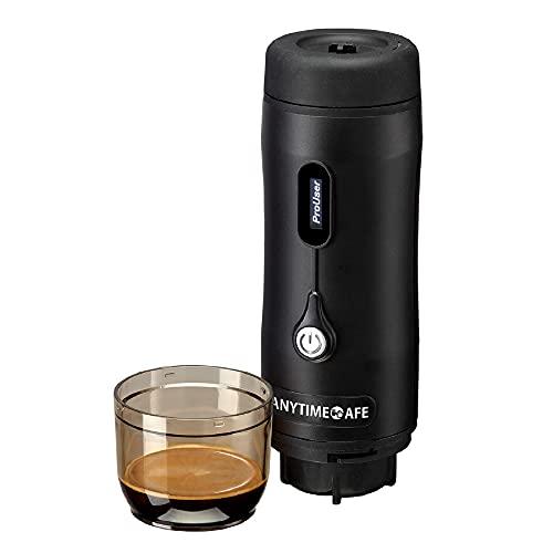 ポータブル全自動エスプレッソコーヒーマシン ANYTIME CAFE(エニタイムカフェ)ポータブルコーヒーメーカー ・キャンプ用品、キャンプギア・お湯不要で簡単にコーヒーが飲めます