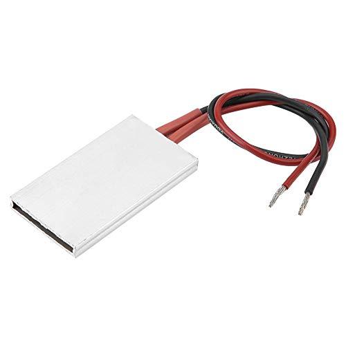 Calentador termostático de placa de elemento calefactor PTC con carcasa de aluminio de 5028,5 mm (24 V / 70 ° C) (rojo negro)