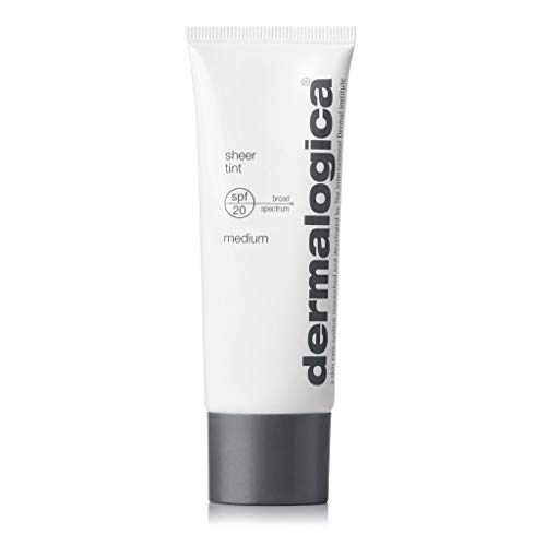 Dermalogica Sheer Tint SPF20 (1.3 Fl Oz, Medium) Tinted Moisturizer Sunscreen with Hyaluronic Acid - Skin-Evening Sheer Color That Defends Against UV Damage