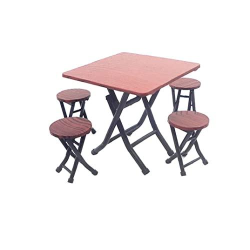 Domek dla lalek zestaw i 1 szt. miniaturowy stół i krzesła domek dla lalek meble dom dla lalek dekoracja akcesoria mini stół i krzesła do domku dla lalek
