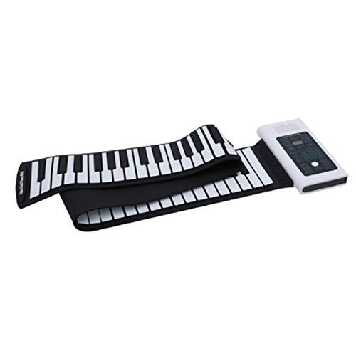 Handwielen piano voor kinderen Opvouwbare 88 toetsen Elektrische digitale roll-up pivium van zachte siliconen met USB-MIDI-uitgang opname programmering handleiding voor het afspelen van Sustain Vibrato-functies