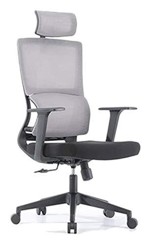 Spielstuhl Ergonomischer Stuhl Computerstuhl Home Komfortable STEGARY Ingenieurwesen Bürostuhl Studienstuhl Gaming Seat Weiche Unterstützung Gaming Chair (Color : Grey, Size : One size)