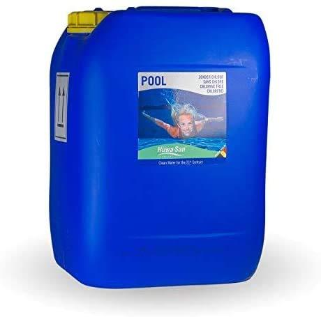 Huwa-San Pool chlorfreie Pool-Desinfektion und Wasserpflege (Wasserstoffperoxid-Basis 11,9%, 20L bis 150m³)…