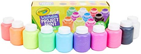 CRAYOLA 54-2390 Washable Neon Paint, Art Tools, 10 Bright Colours, Children Art & Craft, projects, artist, students,...