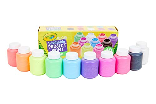 Best Crayola Washable Kid S Neon Paint Set 2 Ounce 10 Count Yobozezi