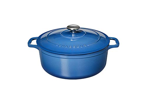 Chasseur PUC472641 Bräter, rund, 26 cm, emailliertes Gusseisen, 5 Liter, Blau