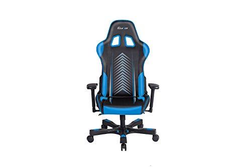 Clutch Chairz - Silla ergonómica para videojuegos, sillas de videojuegos, silla de oficina, silla alta y almohada lumbar para escritorio de ordenador - Negro/Azul - Serie de manivela