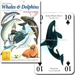 In P0095 [dugong polar bear, to whale! ] Whale and Dolphin (japan import) by Heritage Playing Card Company / U.K.