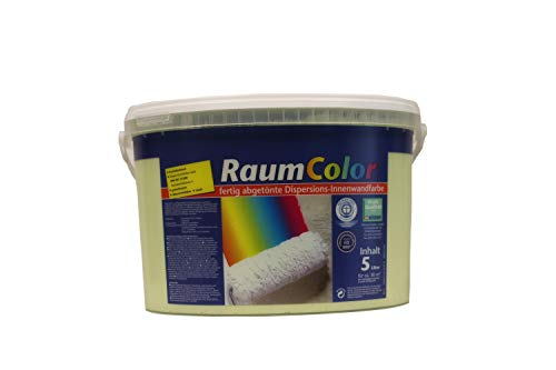 Wilckens Raumcolor Wandfarbe Dispersions-Innenfarbe 5 Liter Farbton Wählbar, Farbe:Limone