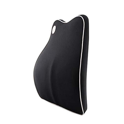 JINGZI Bath Rugs Car Lumbar Cushion, Car Lumbar Pillow, Lumbar Support, Lumbar Protection Seat Memory Foam Cushion (Color : Black)