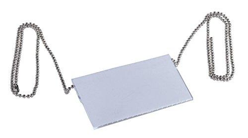 Durable 810423 ketting voor naamplaatjes (850 mm, zonder nikkel) zakje à 10 stuks metallic zilver