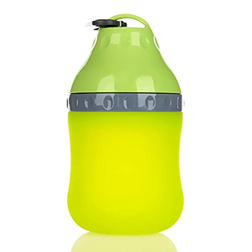 HAITOY Taza de Agua para Mascotas, máquina de Agua Potable para Exteriores para Perros, Botella de Agua portátil, Recipiente de Agua de Silicona Plegable, Taza de Agua